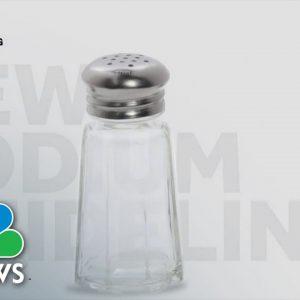 FDA Recommends Cutting Salt in American Foods