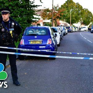 First Responders Attend Scene Of Stabbing Attack On U.K. Lawmaker