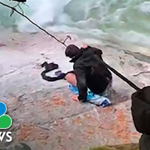 Watch: Video Shows Sikh Men Using Turbans To Rescue Hikers At Canada Waterfall