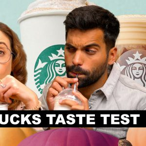 Trying Starbucks Fall Menu Drinks For the First Time - Taste Test!